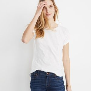 Madewell Whisper Cotton Tee in Optic White